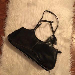 Leather black purse